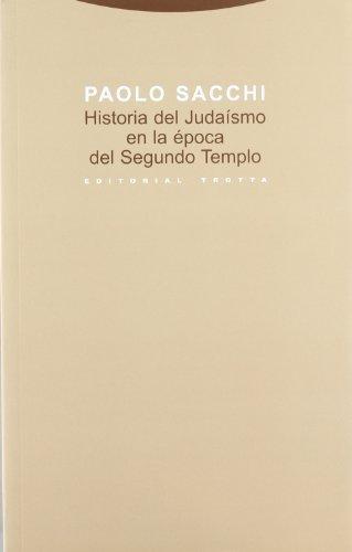 Historia Del Judaismo En La Epoca Del Segundo Templo