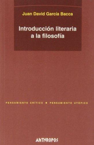Introduccion Literaria A La Filosofia