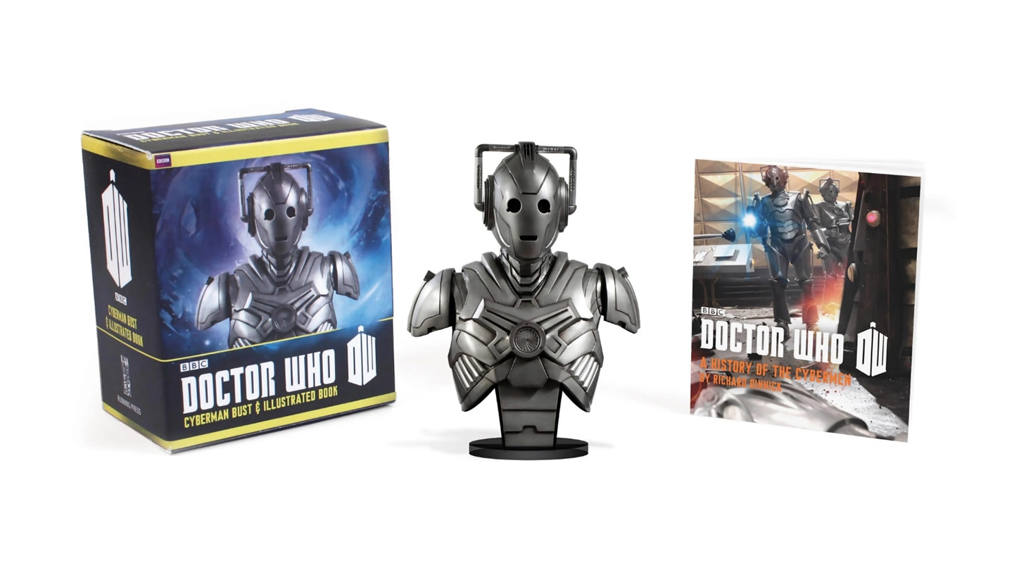 Minikit Doctor Who Cyberman Bust And Illustrated Book