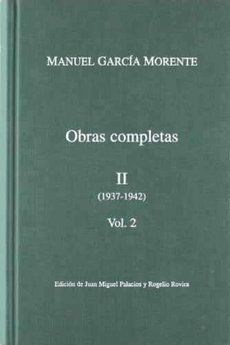 Obras Completas Manuel Garcia Morente 4 Tomos