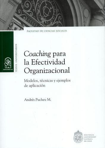 Coaching Para La (2ªed) Efectividad Organizacional Modelos Tecnicas Y Ejemplos De Aplicacion
